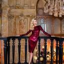 Платье Tom Ford, cерьги Mercury из коллекции Classic (белое золото, бриллианты)